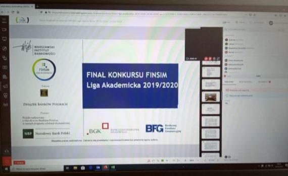 Konkurs FINSIM Liga Akademicka 2019/2020 rozstrzygnięty zdalnie